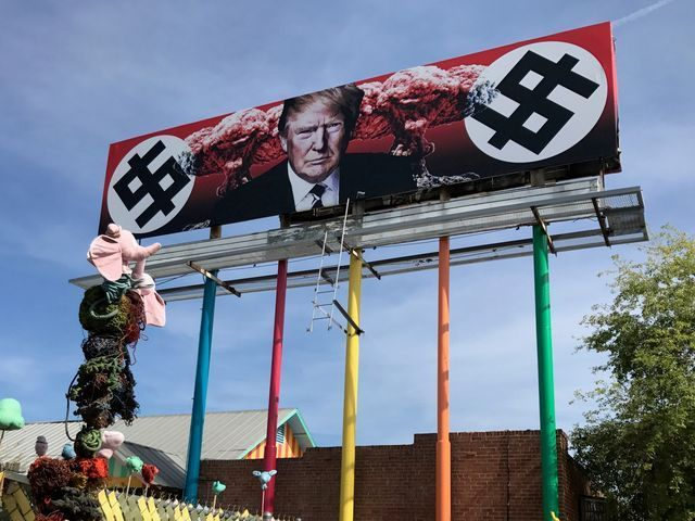 Phoenix billboard depicts Donald Trump, Nazi-like symbols
