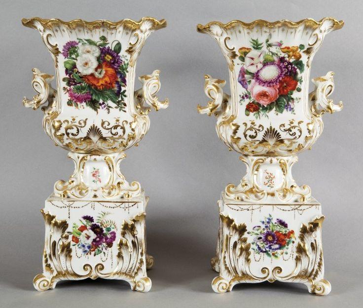 Coppia di grandi vasi Luigi Filippo in porcellana : Lot 408