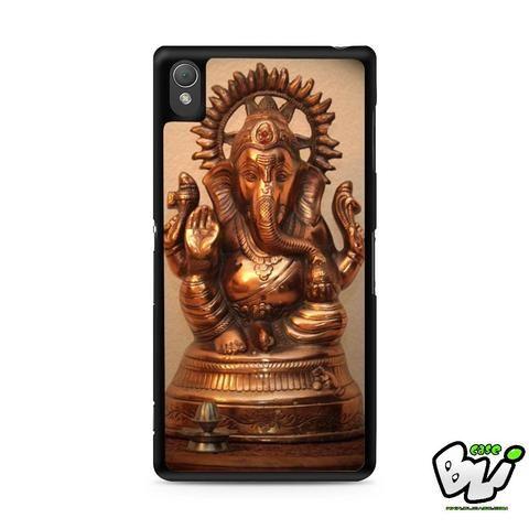 Gold Ganesha Sony Experia Z3,Z4,Z5,C3,C4,E4,M4,T3 Case,Sony Z3,Z4,Z5 MINI Compact Case