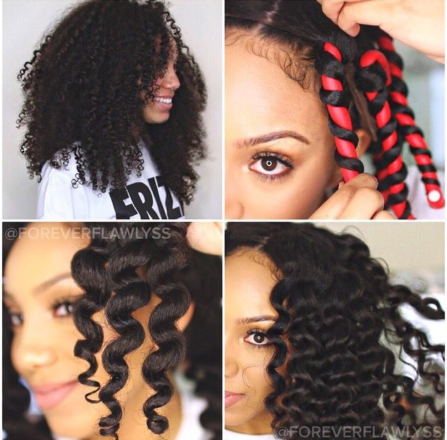 How to use flexi rods on natural and relaxed hairstyles, tutorials for short and…
