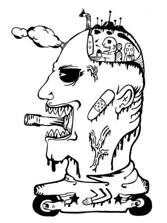 Gabriel Tiongson Mind Tanking ink on paper © 2010