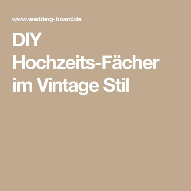 DIY Hochzeits-Fächer im Vintage Stil