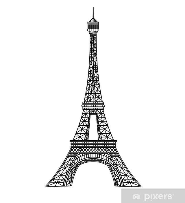Papier Peint Illustration Vecteur Eiffel Tour Pixers Nous Vivons Pour Changer Eiffel Tower Illustration Eiffel Tower Drawing Eiffel Tower