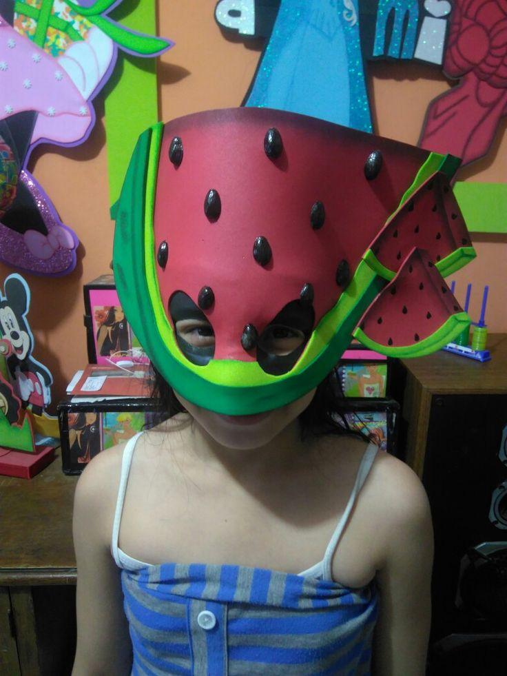 Máscara de sandía para presentación escolar información y pedidos al wap 3155334049