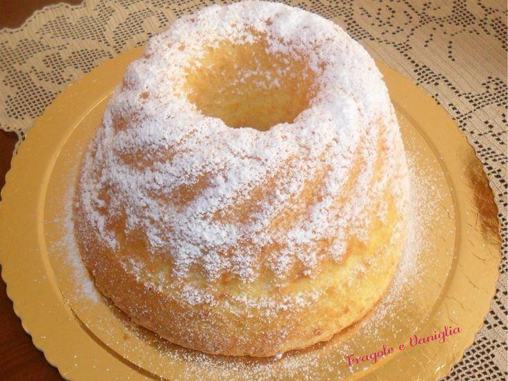 """CHIFFON CAKE O CIAMBELLONE AMERICANO   Sloppina in cucina """"Fragole e Vaniglia"""""""