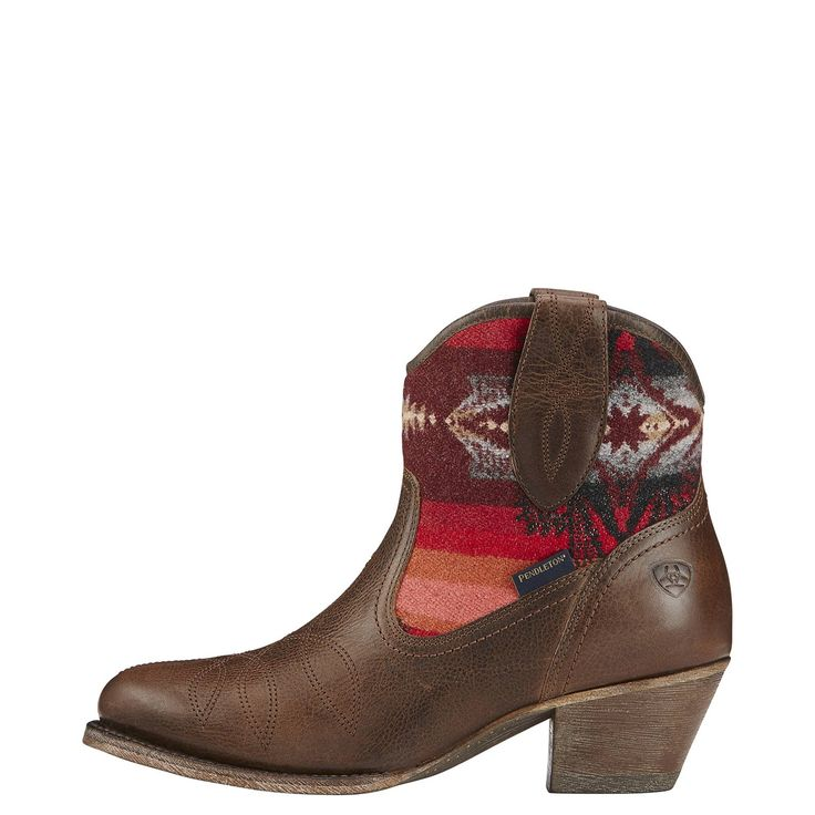 Pendleton on a cowboy boot Heck yeah 10016318  Allens Boots  Womens