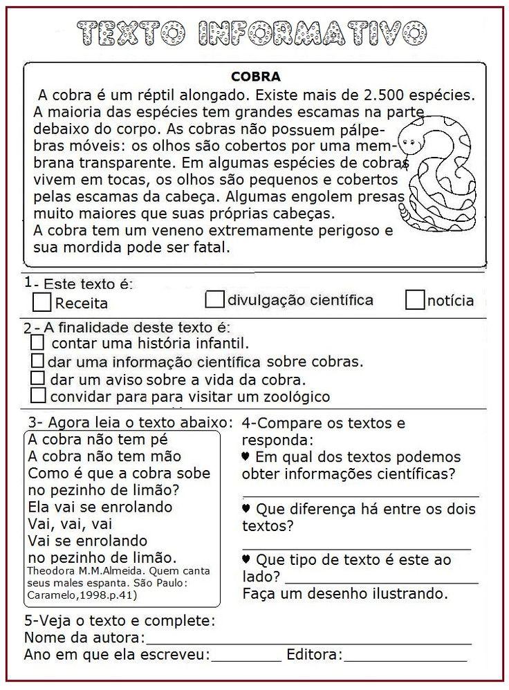 Texto Informativo – Cobra | Rérida Maria