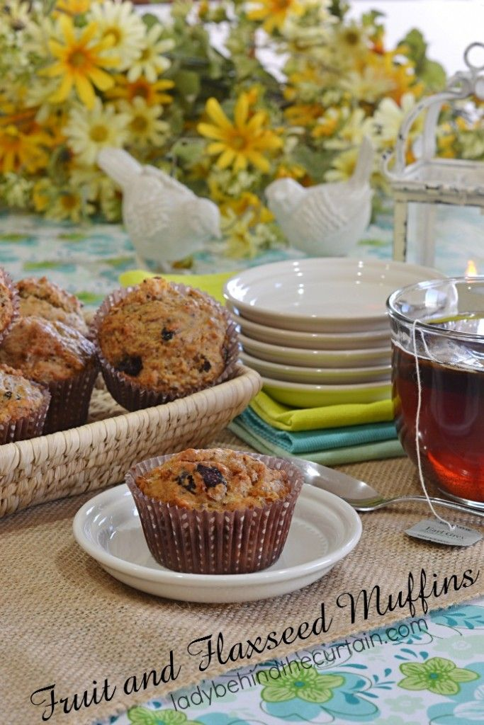 Fruit and Flaxseed Muffins | Full of dried fruit and healthy ingredients.  This is my go to recipe for the perfect muffin.  Not too sweet and not too heavy