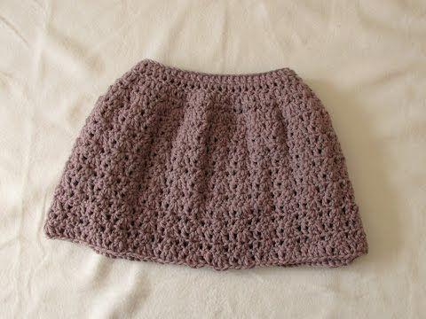 Very Easy Pretty Crochet Skirt Tutorial All Sizes Baby
