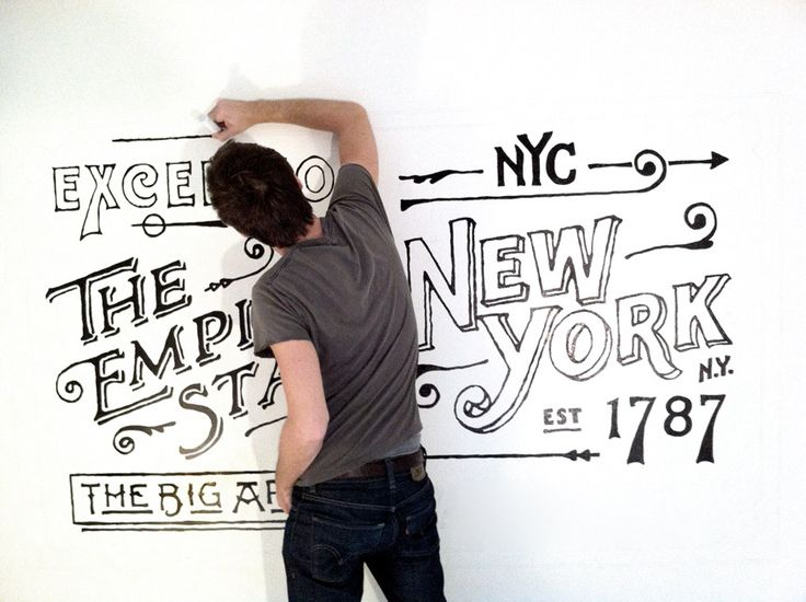 Dan Cassaro - Ace Hotel: Cassaro, Chalkboards Design, Wall Murals, Ace Hotels, Hands Letters, Sharpie Art, New York, Design Studios, Hands Typ