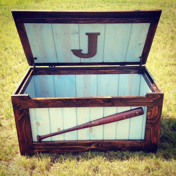 Rustic Toy Chest Blue by MidAtlanticRustic on Etsy