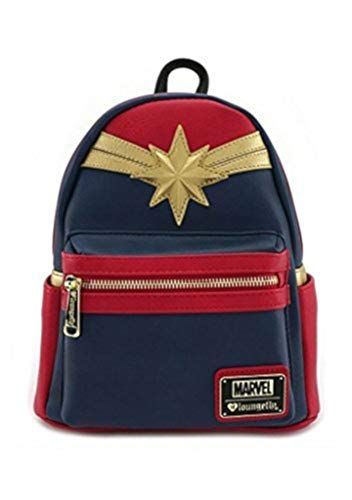 5b3de3f8c283 Loungefly Captain Marvel Faux Leather Mini Backpack Stand... https   www