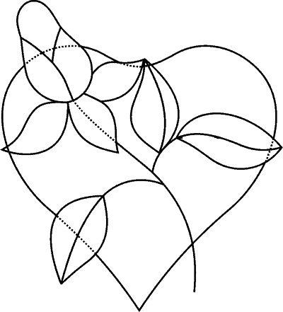 Knutselwerkje Hart met roos (Valentijnsdag) van knutselidee.nl