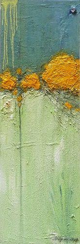 "Inge Philippin -  ""Gardens 5"" - mixed media on canvas"