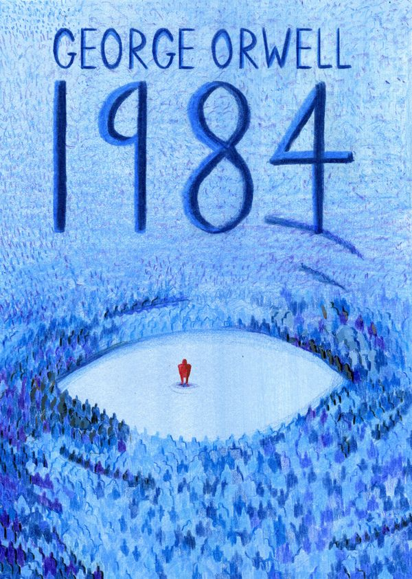 1984 Book Cover by Haydn Symons, via Behance