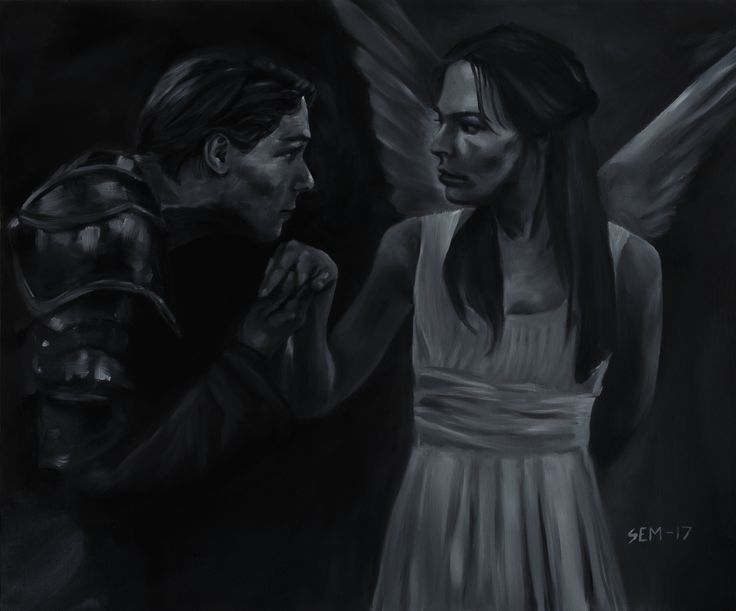 Romeo & Juliet. Original artwork by Sindre Ekrheim Mosand. Painted with oil-painting on canvas. 60x50 cm.
