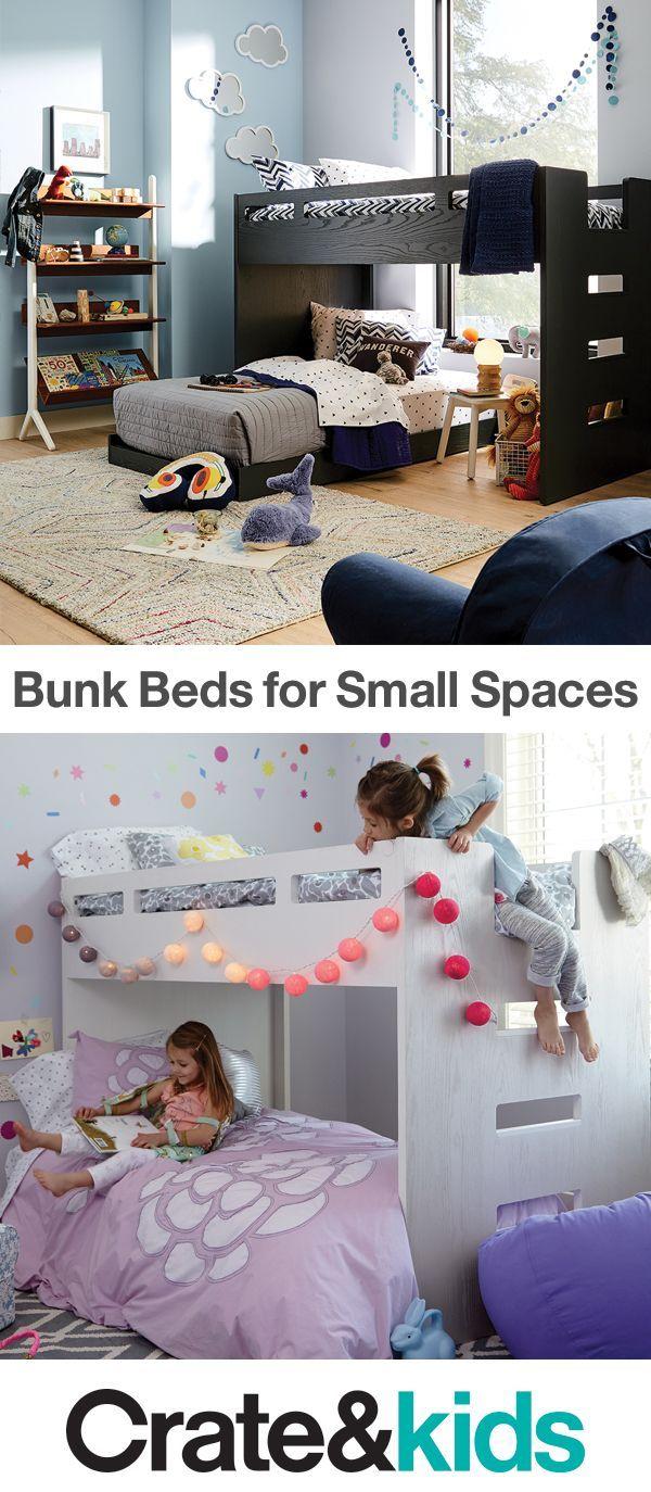 Two Kids In One Small Room Make Sharing Into An Adventure W Decoracion De Habitacion De Chicas Ideas De Dormitorio Para Ninas Habitaciones Para Ninos Pequenos