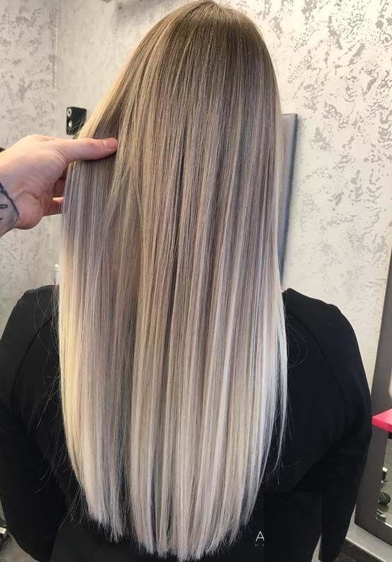 48 schöne lange gerade gemischte Frisuren für 2018. Möchten Sie Ihre langen H… – Geneiacobelli