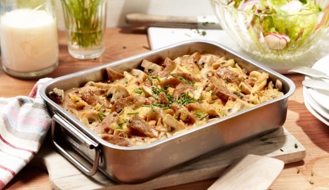 Pfeffer-Geschnetzeltes aus dem Ofen - ein leckeres Rezept aus der Kategorie Aus dem Ofen. MAGGI Kochtipps für ein gutes Gelingen.