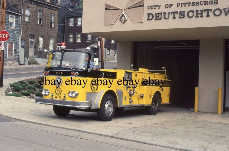 Fire Apparatus Slide - Pittsburgh PA - Seagrave Engine X2