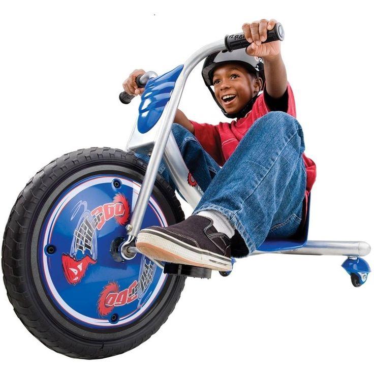 Rip-Rider 360 Drifting Kid's Ride-On Tricycle Bike Trike Kids Toy Gift, Blue #RipRider360