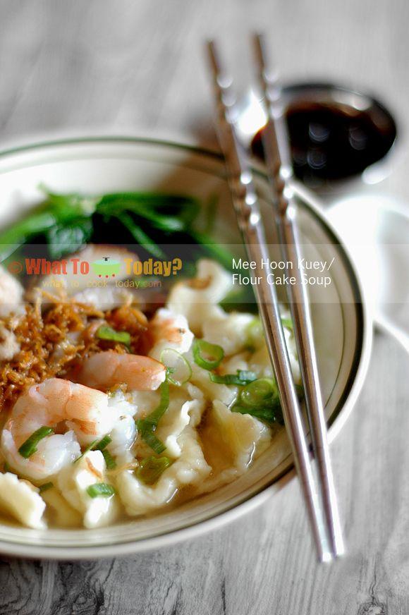 FLOUR CAKE SOUP / MEE HOON KUEH