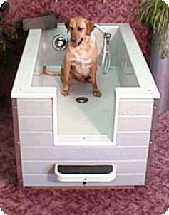 258 best dog houses kennels images on pinterest house dog walk in bath for large dogs makes it easy for you to bath your dog solutioingenieria Images