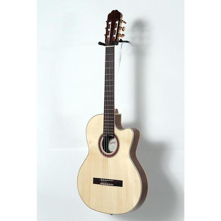 Beautiful Kremona Rondo Thin Line Classical Acoustic Electric Guitar Natural