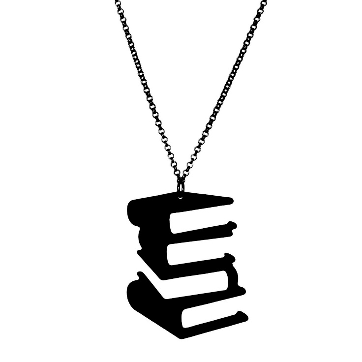 Book Silhouette Necklace