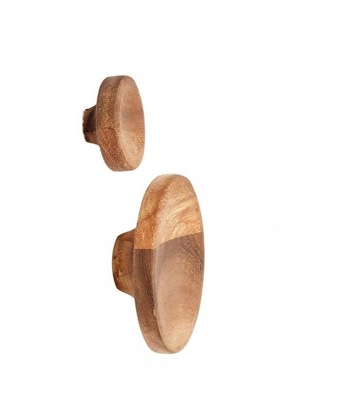 set de 2 patres design rondes en acacia - Patere Colore