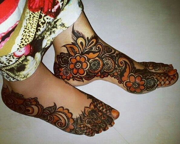 Mehndi Legs Images : Best leg henna design images tattoos