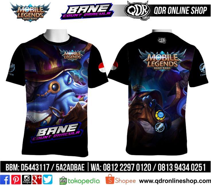 T-Shirt Mobile Legends Bane Skin Count Dracula  untuk pemesanan: BBM D5443117 / 5A2ADBAE (Qdr online shop) WA/LINE 081222970120 / 08129434025 www.qdronlineshop.com
