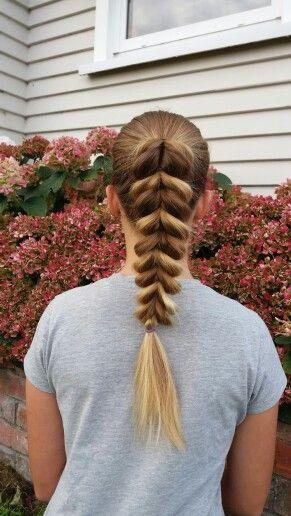 Pull thru braid