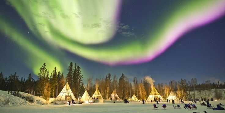 Viewing Northern Lights from your cozy tipi in Northern Canada. Photo: Chul Kwon