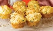 CHEESY MUFFINS: These yummy muffins with be a hit with the kids  #cheese #muffin