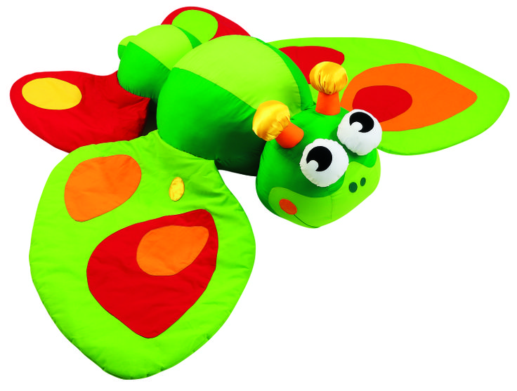 """""""Bunty the Butterfly"""" Giant Floor Cushion from #Wesco. Perfect for any #playroom!"""