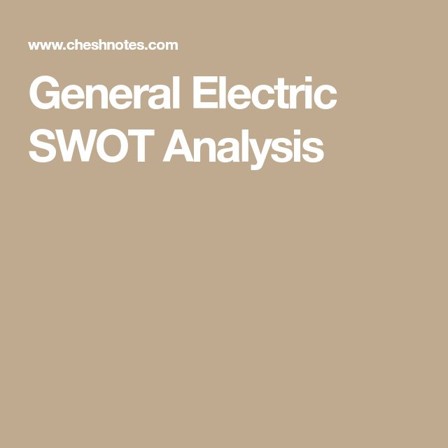 Best Marketing Images On   Swot Analysis Electric