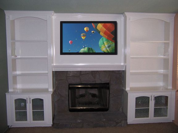 Fireplaces With Bookcases Mantels And Fireplace Bookcases And Entertainment Centers Craft