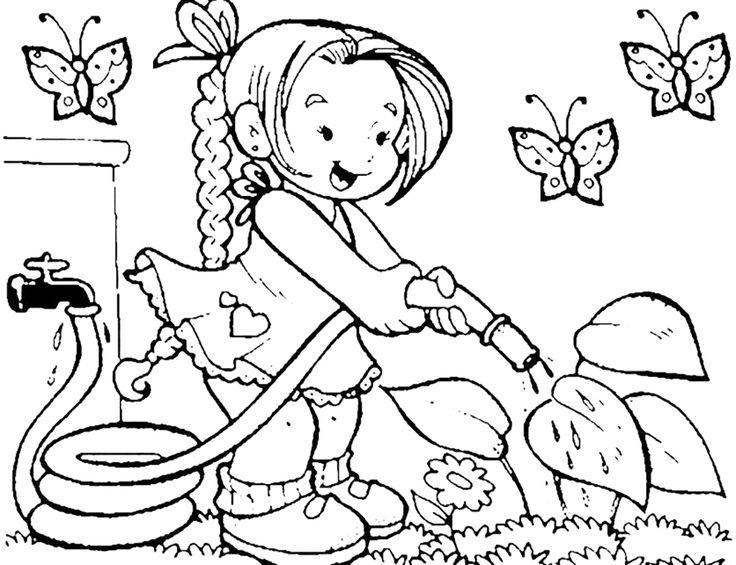 Coloring Pages Preschool Flowers 18 Best Gardening Images On Pinterest