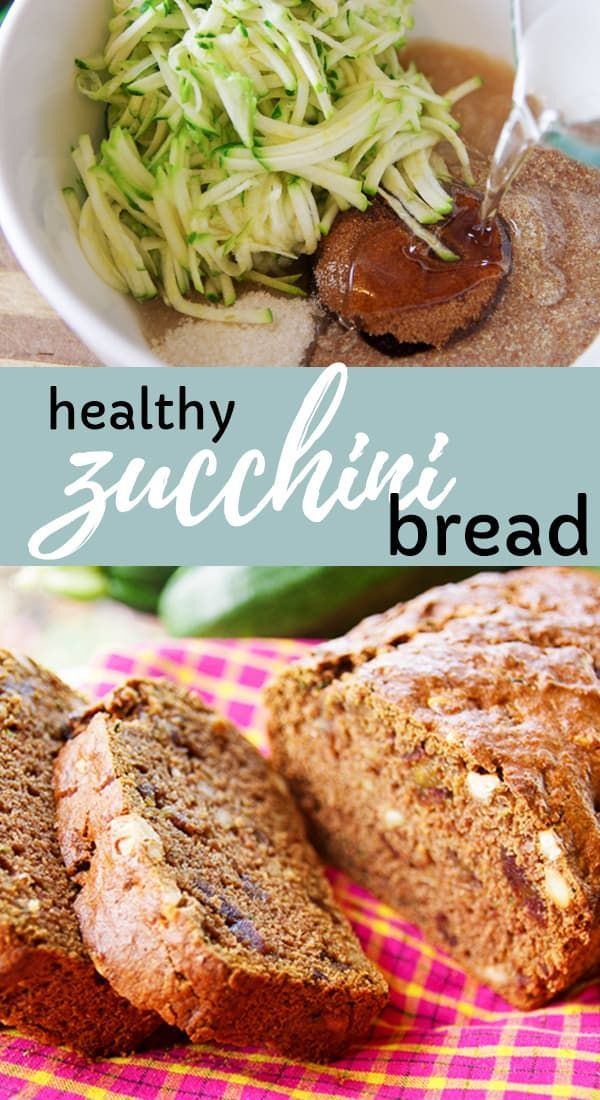 Healthy Zucchini Bread That Is Packed With Flavor Made With Coconut Oil Applesauce Dark Brown Sugar Flax Eg Zucchini Bread Healthy Recipes Healthy Zucchini