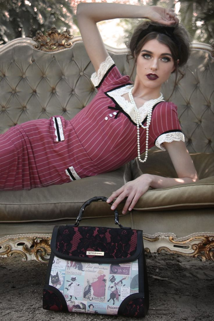 Le Chat Noir Pinstripe Wiggle Dress