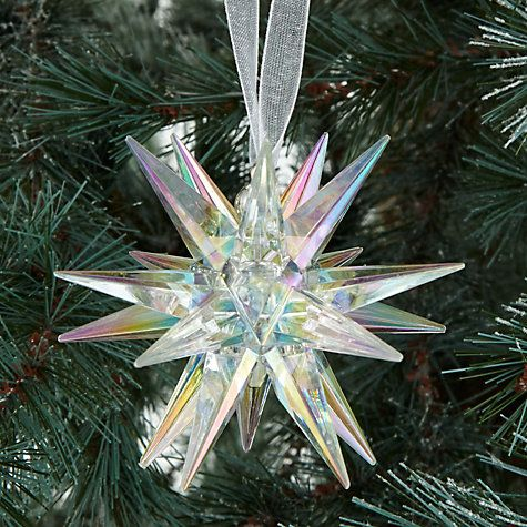 Buy John Lewis Different Perspective Acrylic Starburst Bauble, Clear Online at johnlewis.com