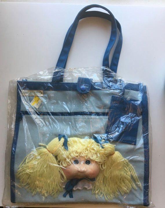 Cabbage Patch Kids Doll Head Vintage Tote Shoulder Bag Mint in