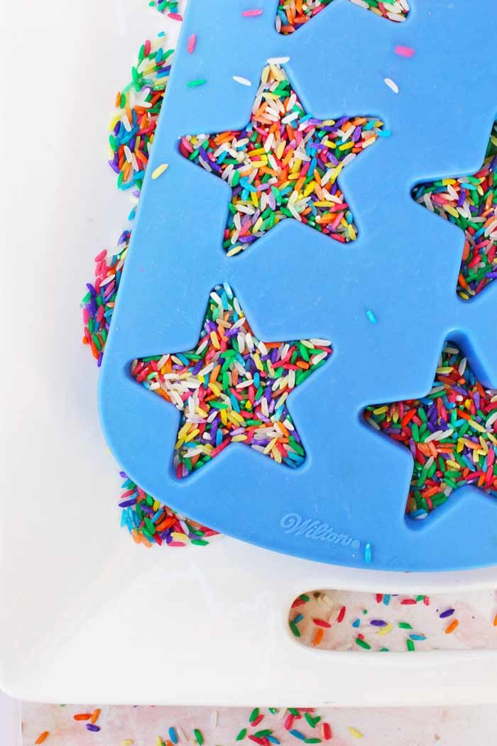 Sensory Play Ideas: Confetti Rice