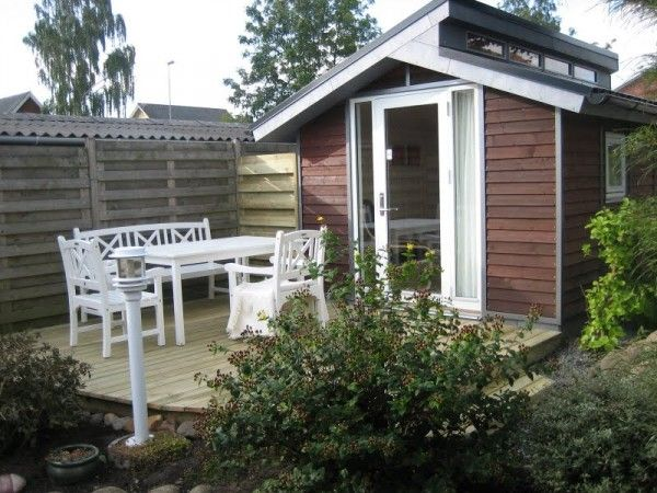 Tool Shed Transformed into tiny house patio