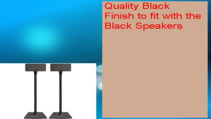 awesome SANUS WSS2 Speaker Stands for SONOS PLAY1  PLAY3 Black Pair