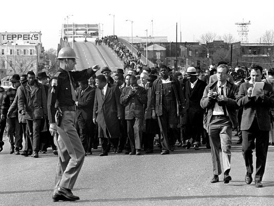 Three marches from Selma to Montgomery took place in 1965 as a part of the Voting Rights Movement in Alabama. Through nonviolence, civil disobedience, and marches, activists fought for the voting rights of African Americans. These marches paved the way for the passage of the Voting Rights Act of 1965.