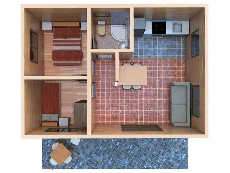 Mejores 16 im genes de casas de madera peque as en - Ver casas de madera por dentro ...