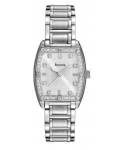 Bulova Women's Diamond  Silver Stainless-Steel Quartz Watch with Mother-Of-Pearl…