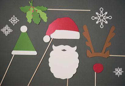 Brico de Noël: masques et accessoires pour photomaton
